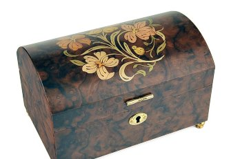 Музыкальная шкатулка Donato & Maresca Treasure Chest with Floral Inlay, арт. IT196 FLORAL